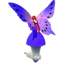 <strong>Creative Motion</strong> Fiber Butterfly Night Light
