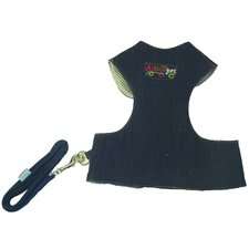Cloth Dog Harness With Leash