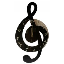 <strong>Creative Motion</strong> Clef Music Wall Clock