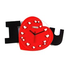 I Love U Wall Clock