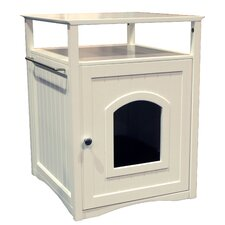 Nightstand Pet Crate & Litter Box