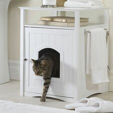 Nightstand Pet Crate & Litter Box Enclosure
