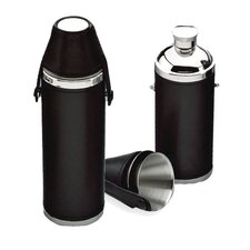 10 Oz. Leather Tube Flask
