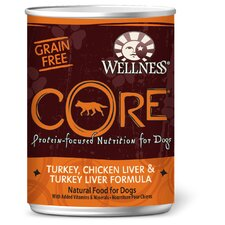 Core Turkey Chicken Liver and Turkey Liver Wet Dog Food