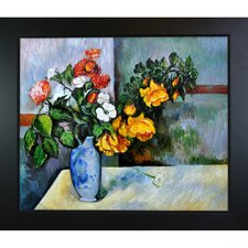 Still Life Flowers in Vase by Paul Cezanne Framed Original Painting