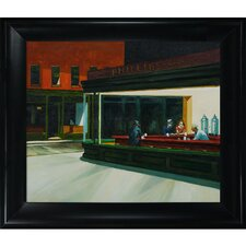 Nighthawks by Hopper Framed Original Painting