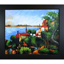 La Mer Al'Estaque by Paul Cezanne Framed Original Painting