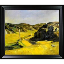Road in Maine by Hopper Framed Hand Painted Oil on Canvas
