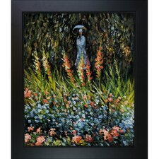 Monet The Garden, Gladioli Hand Painted Oil on Canvas Wall Art