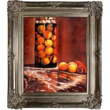 Monet Jar of Peaches Hand Painted Oil on Canvas Wall Art