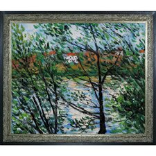 Monet Springtime Through the Branches Hand Painted Oil on Canvas Wall Art
