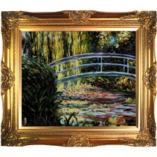 <strong>Tori Home</strong> Monet The Japanese Bridge (Detail) Hand Painted Oil on Canvas Wall Art