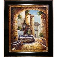 Greek Villa I Framed Original Painting
