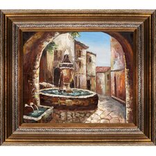 Greek Villa II Hand Painted Oil on Canvas Wall Art