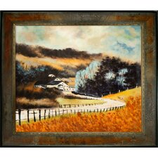 <strong>Tori Home</strong> Ledent Sechery in Autumn Hand Painted Oil on Canvas Wall Art