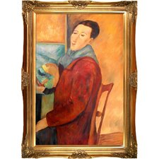 Self Portrait by Modigliani Framed Original Painting