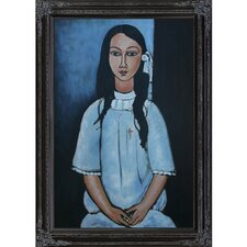 Alice by Modigliani Framed Original Painting