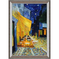 Cafe Terrace at Night by Van Gogh Framed Original Painting