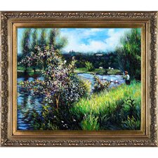 The Seine at Chatou by Renoir Framed Original Painting