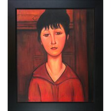 Head of  Young Girl by Modigliani Framed Original Painting