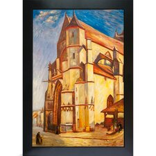 <strong>Tori Home</strong> Sisley The Church at Moret in Morning Sun Hand Painted Oil on Canvas Wall Art