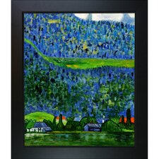 Unterach on Lake Atter by Gustav Klimt Framed Original Painting