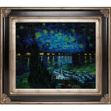 Starry Rhone Collage by Van Gogh Framed Original Painting