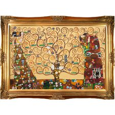 The Tree of Life, Stoclet Frieze by Gustav Klimt Framed Original Painting