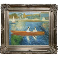 <strong>Tori Home</strong> Renoir Boating on the Seine Hand Painted Oil on Canvas Wall Art