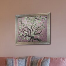 Branches of an Almond Tree in Blossom (Pink) by Van Gogh Framed Original Painting