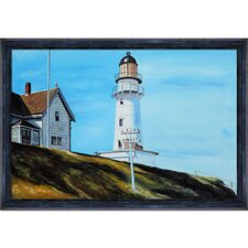 Light at Two Lights Hopper Framed Original Painting