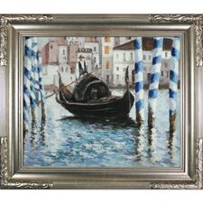 The Grand Canal, Venice II Manet Framed Original Painting