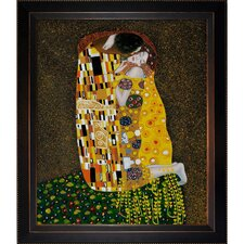The Kiss (Full View) Klimt Framed Original Painting