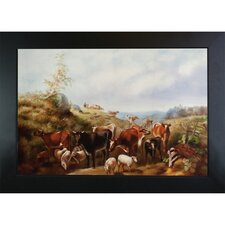 Down the road in Franklin County New York Arthur Fitzwilliam Tait Framed Original Painting