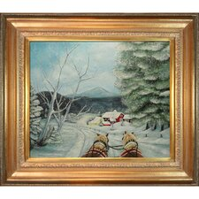 Sleigh Ride Miller Framed Original Painting