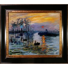 Impression, Sunrise Monet Framed Original Painting