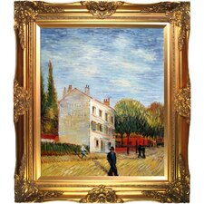The Rispal Restaurant at Asnieres, Summer Van Gogh Framed Original Painting