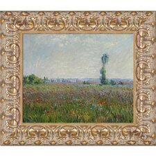 The Fields of Poppies Monet Framed Original Painting