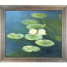 Water Lilies, Evening Monet Framed Original Painting