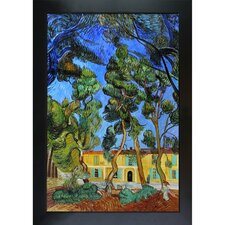 Trees in the Garden of St. Paul Hospital Van Gogh Framed Original Painting