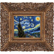 Starry Night Van Gogh Framed Original Painting