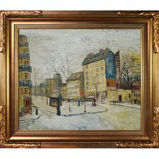 Boulevard de Clichy Van Gogh Framed Original Painting