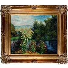 Corner of the Garden at Montgeron Monet Framed Original Painting