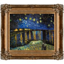Starry Night Over The Rhone Van Gogh Framed Original Painting