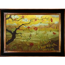 Apple Tree With Red Fruit Ranson Framed Original Painting