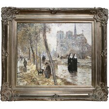 Notre-Dame de Paris Raffaelli Framed Original Painting