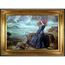 Miranda - The Tempest Waterhouse Framed Original Painting