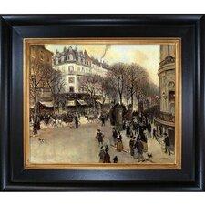 Boulevard des Italiens Raffaelli Framed Original Painting