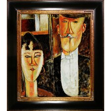 Bride and Groom Modigliani Framed Original Painting