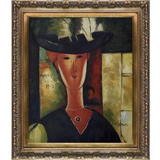 Portrait of Madam Pompadour,1915 Modigliani Framed Original Painting